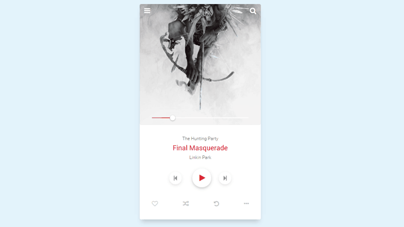 Music player UI design With Playlist Tutorial