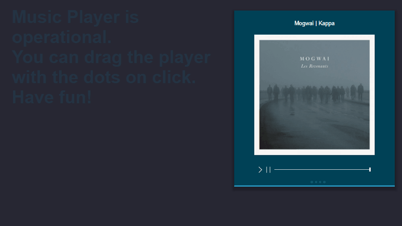 Daily UI :: 009 Music Player With Playlist CSS