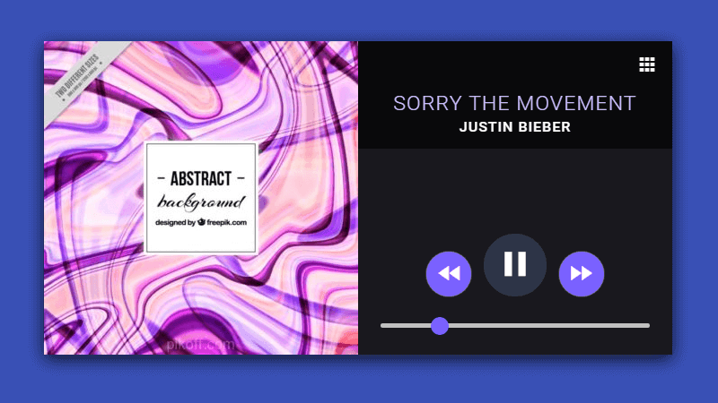 Material Music Player HTML5