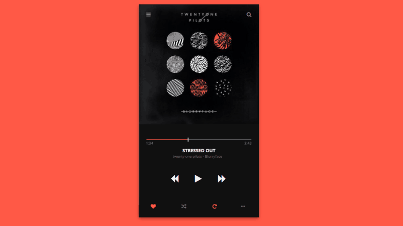Interface Animation Music Player Plugin With Playlist CSS