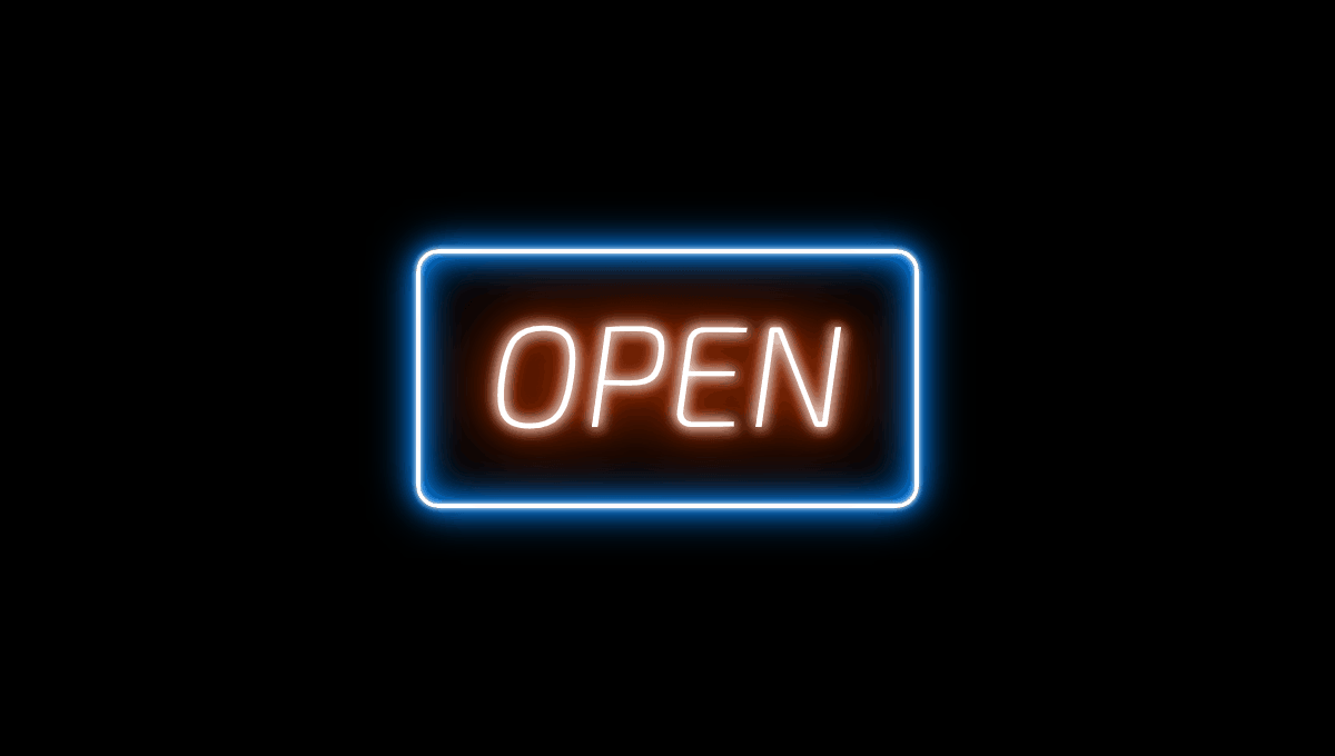 CSS Text Box Shadow Flickering Neon Sign Effect