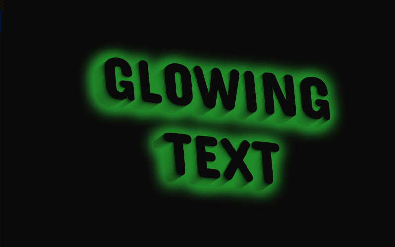 Rotating 3D Glowing Text