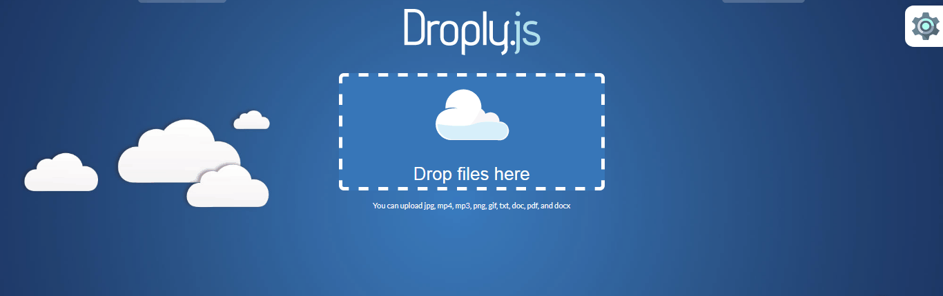 Flexible Droply JS Uploader