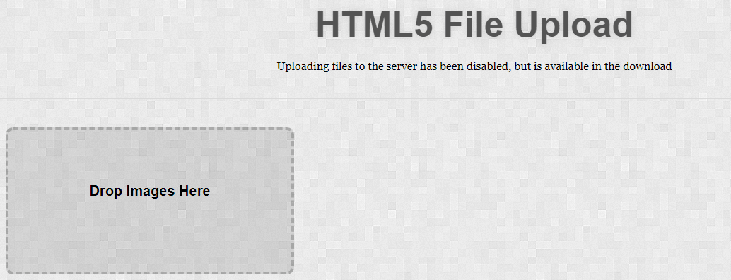Custom HTML5 Drag and Drop File Uploader with jQuery