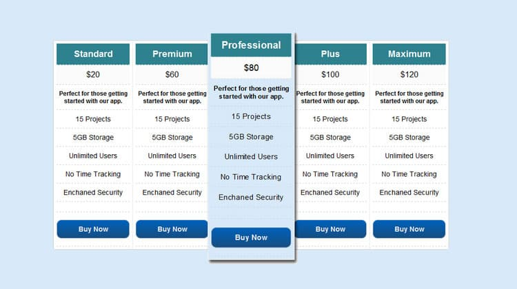 Free-CSS3-Pricing-Table-With-Html