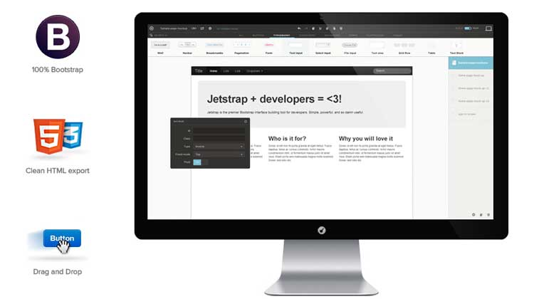 Jetstrap  Responsive wireframe tool