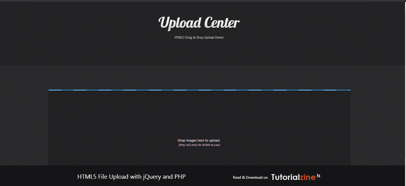 Upload Center HTML5 File Upload with jQuery and PHP