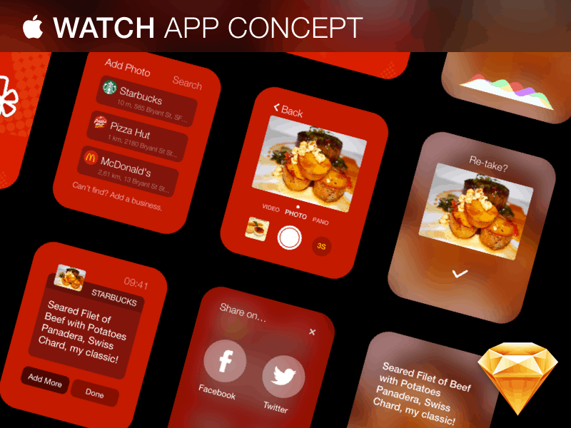 Apple Watch App Concept – Riza Selcuk Saydam