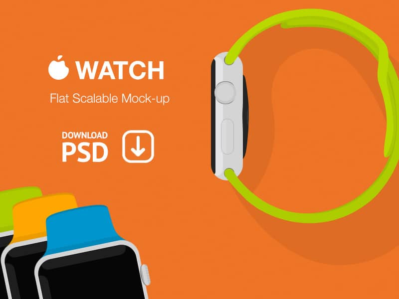 Apple Watch – Free Psd Flat Mockup – Alexander Kutuzov