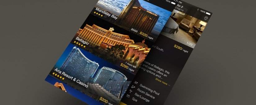 Hotel App GUI PSD Interface Design