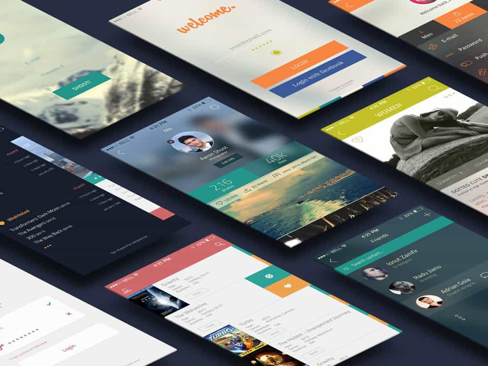 iCollection UI Kit PSD Design Templates