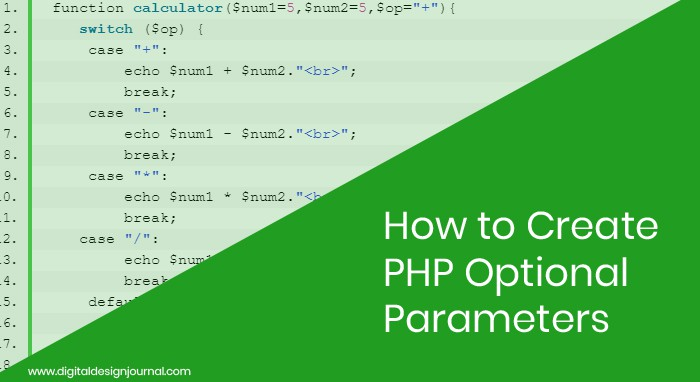PHP Optional Parameters