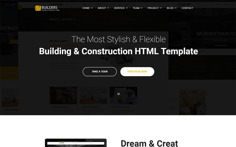 Builder - Construction Company HTML Website Template