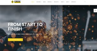 HTML5 Construction Company Website Templates