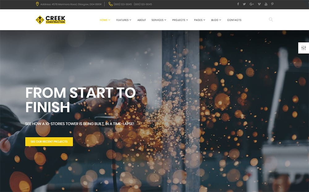 Creek - Construction Industry HTML Theme