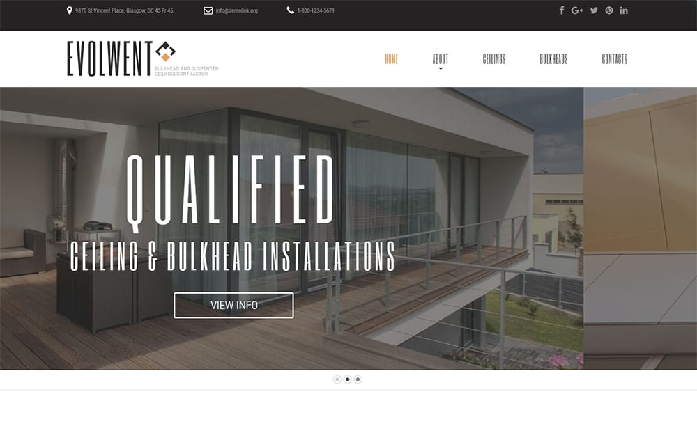 Evolwent - Interior Design and Architecture HTML5 Theme