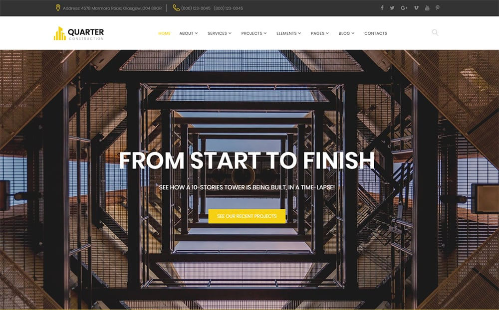 Quarter Construction HTML Template