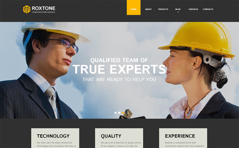 Roxtone - Construction Company HTML5 Theme