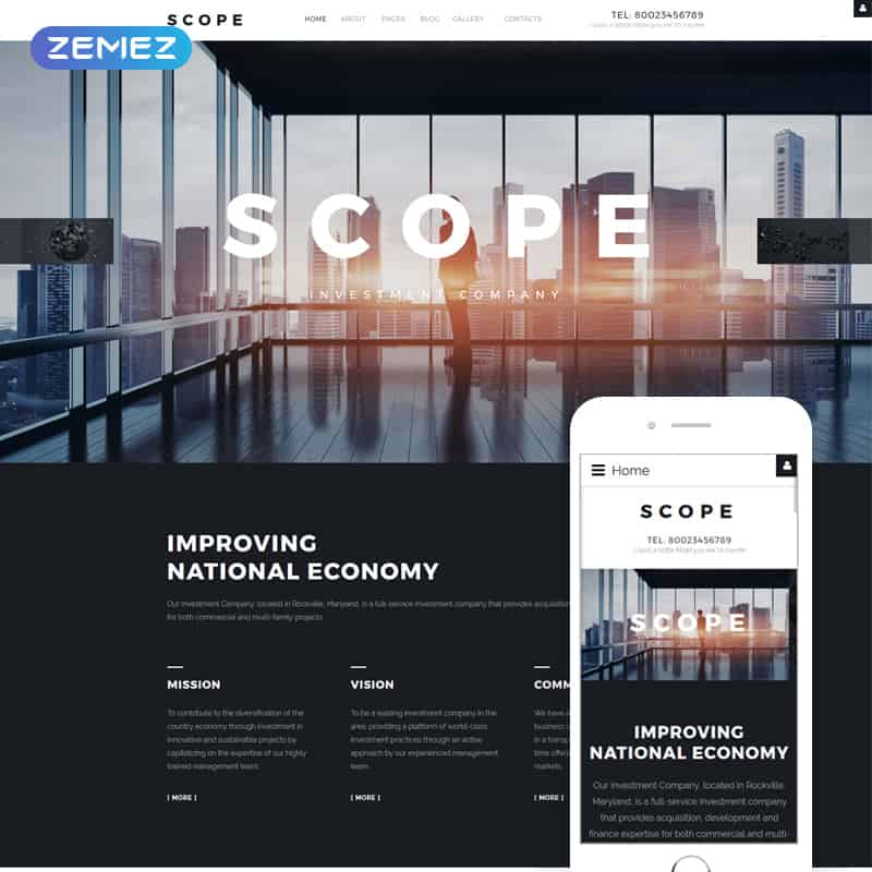 Scope - Investment Company Joomla Design