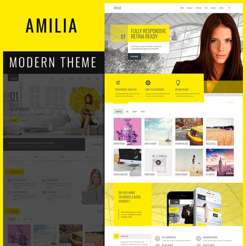 Amilia - Multipurpose Corporate & Creative Joomla Theme
