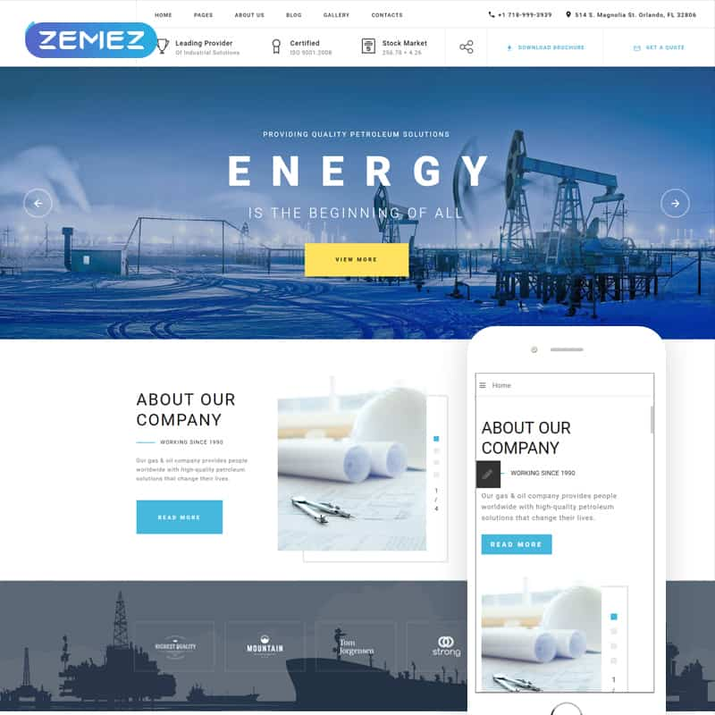 Blue Energy - Industrial Company Joomla Theme