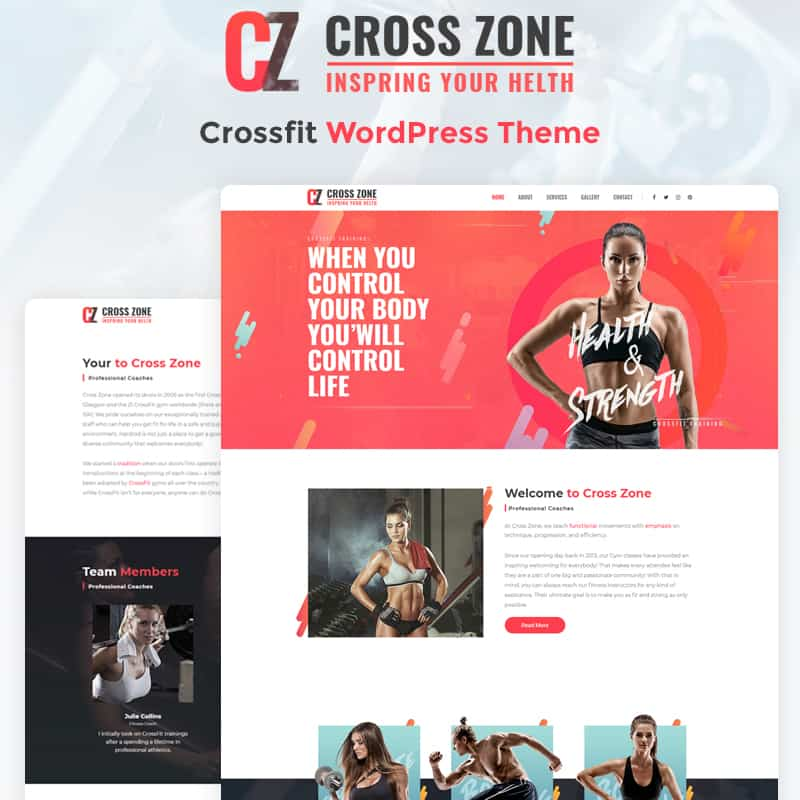 Cross Zone - Crossfit Studio Elementor WordPress Theme