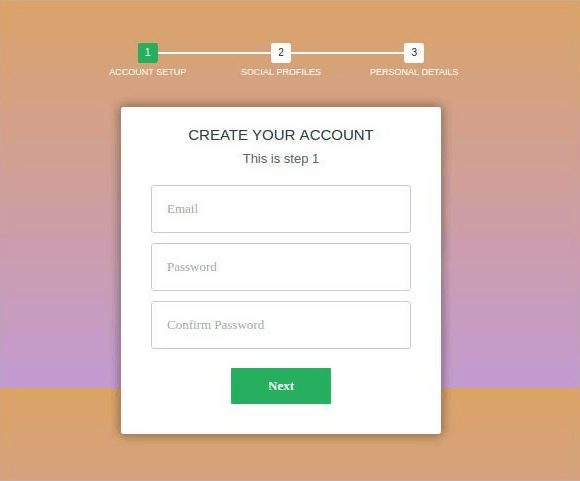 Multi-Step Signup Form with CSS3 and jQuery