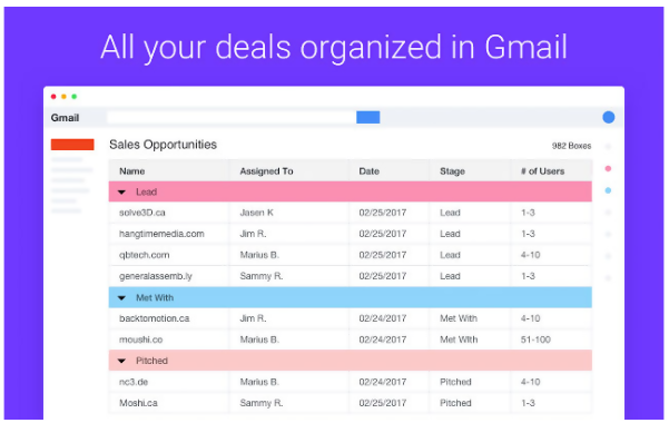 Streak CRM for Gmail