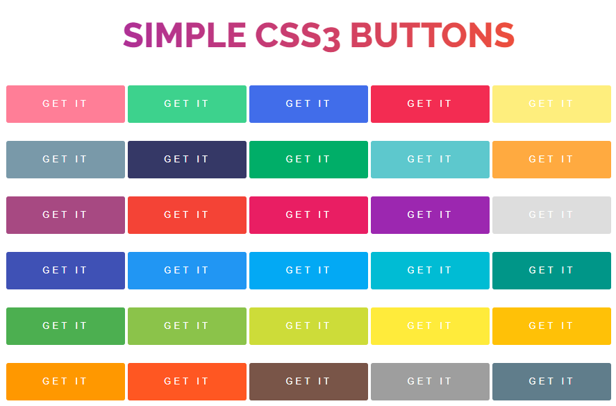 free simple CSS3 buttons