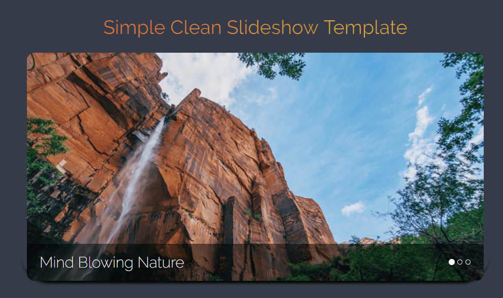 Free html slide show template