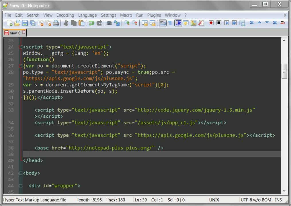 Killer Relaxation Theme for Notepad++