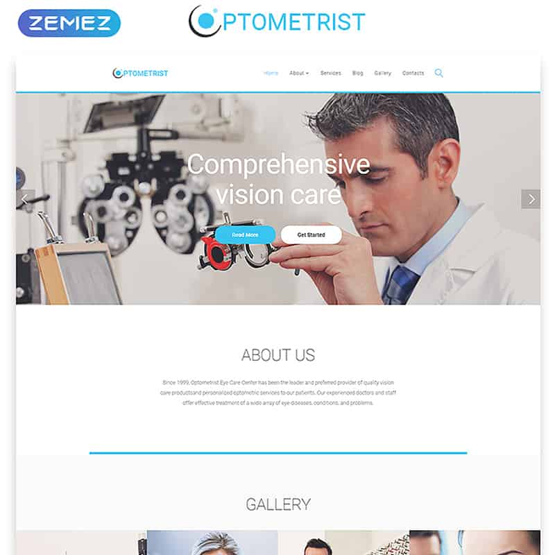 Optometrist - Responsive Medical Clinic HTML Template