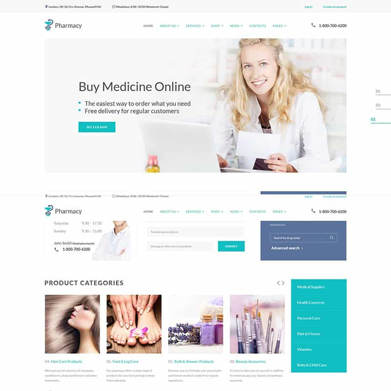Pharmacy - Medical Multipage HTML5 Template