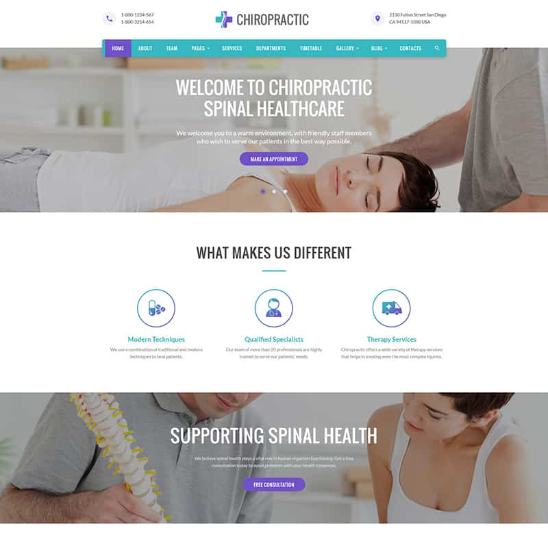 Chiropractic - Alternative Medicine HTML Website Template