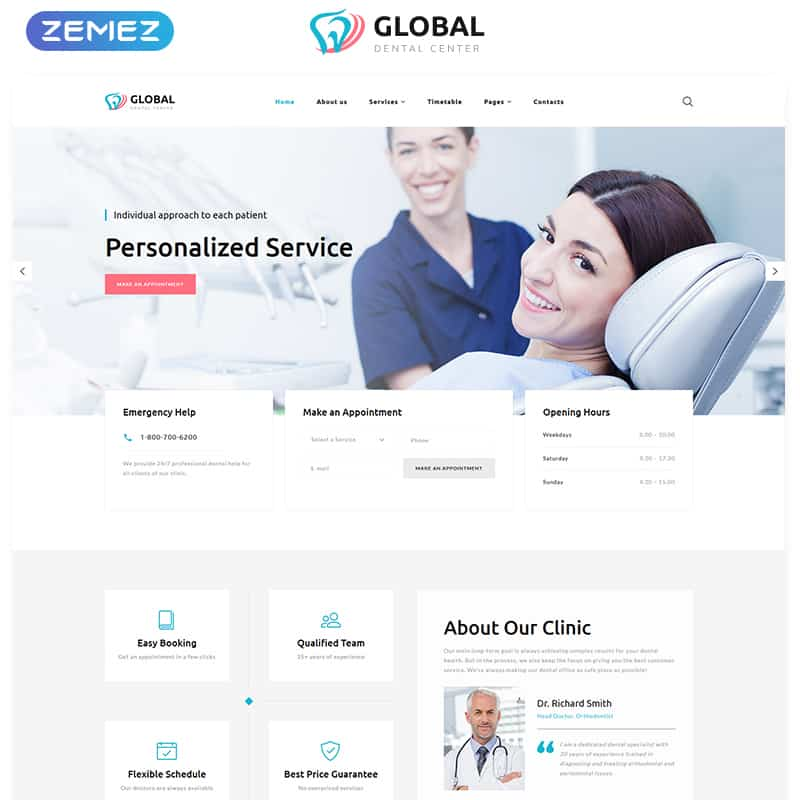 Global - Dental Center Multipage HTML5 Template