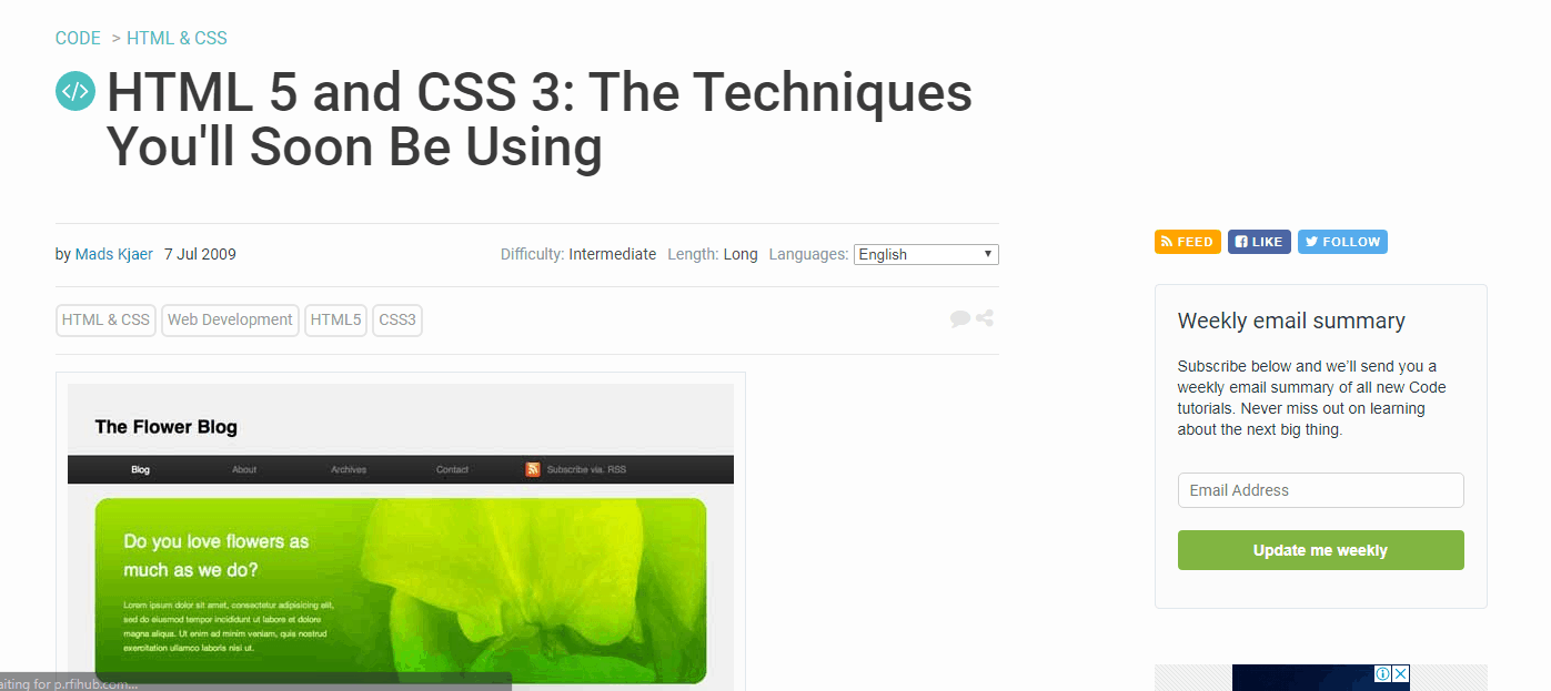 HTML 5 and CSS 3 Techniques You'll Soon Be Using