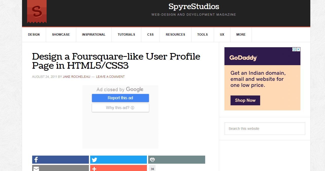 Design a Foursquare-like User Profile Page in HTML5/CSS3