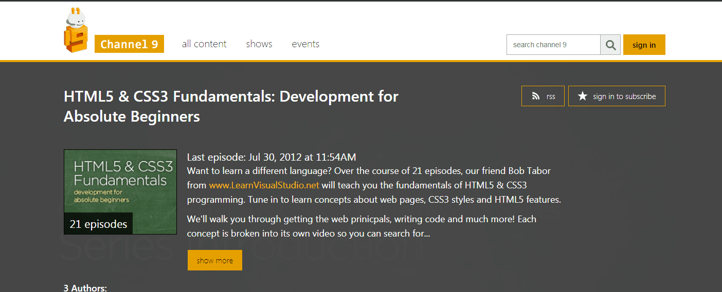 Fundamentals of HTML5 & CSS3