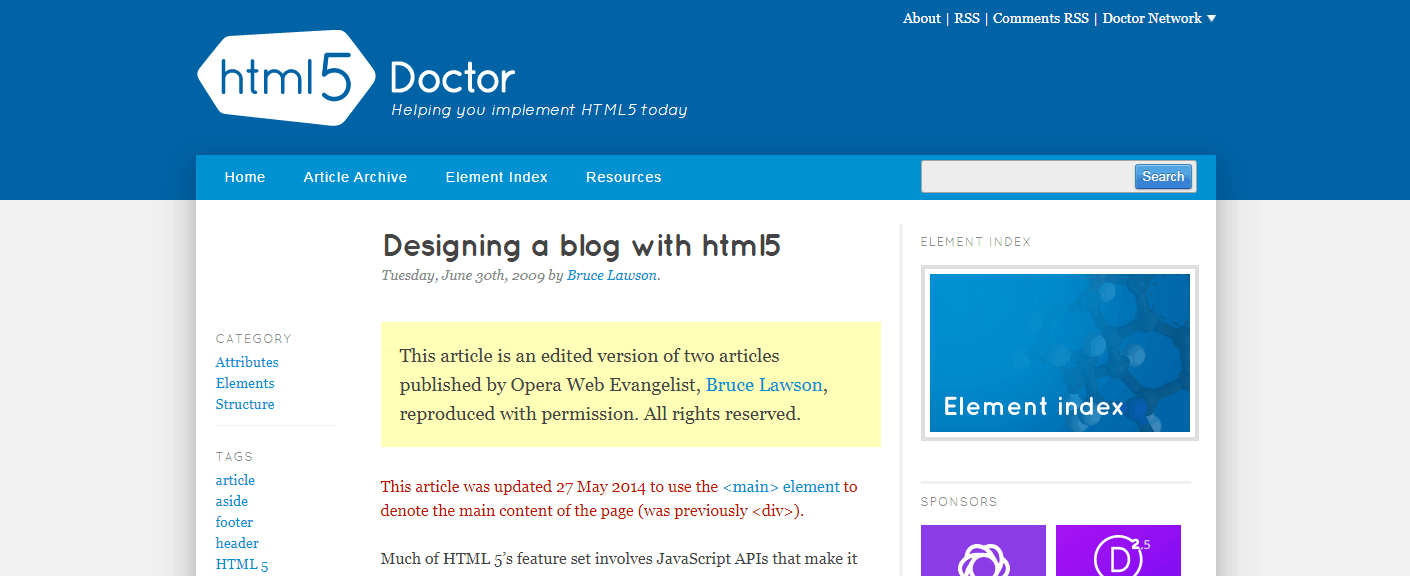 How to Design A Blog with HTML5