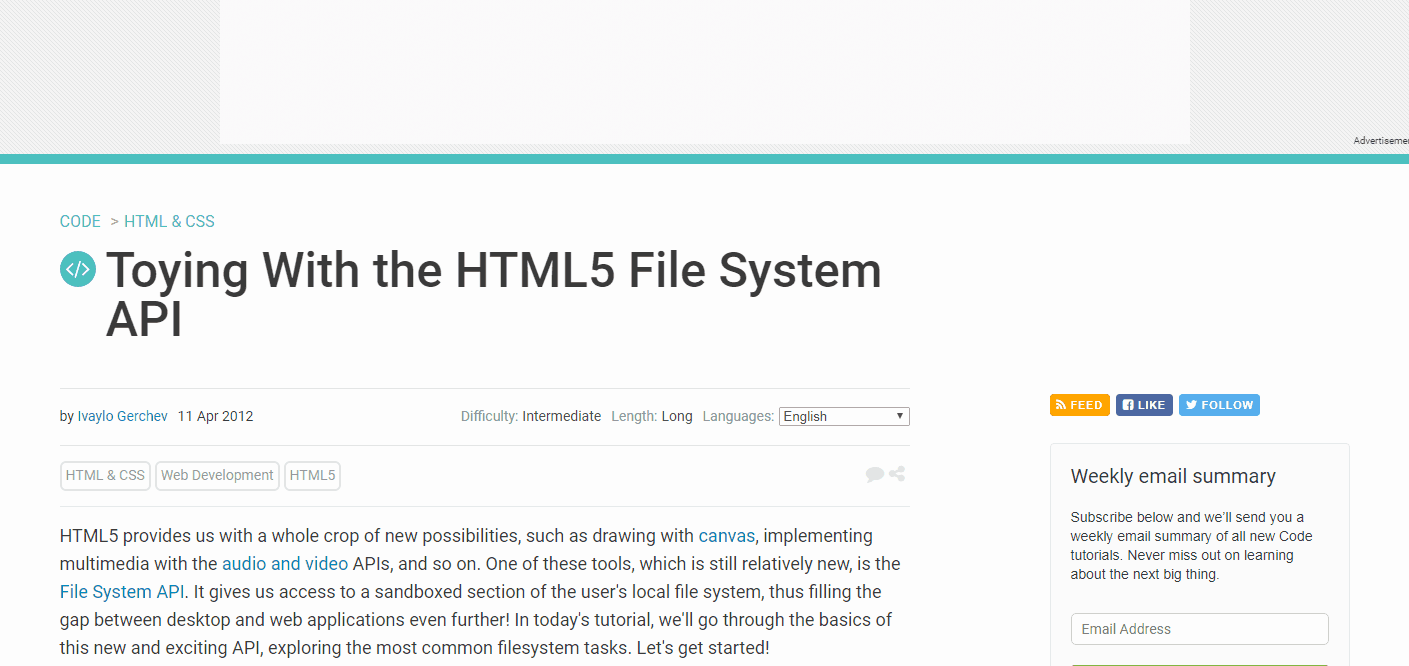 Playing with the HTML5 Filesystem & FileWriter API