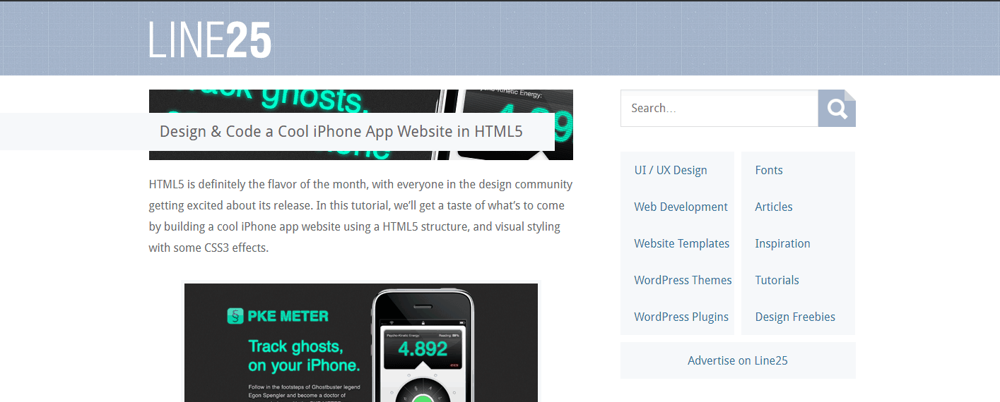 How to Design & Code HTML5 iPhone App Website