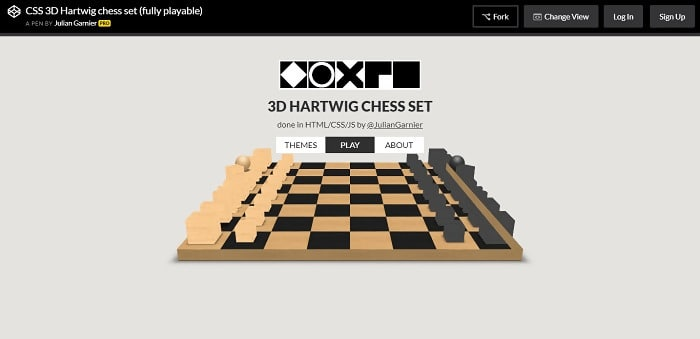 3D Hartwig Chess Set Game