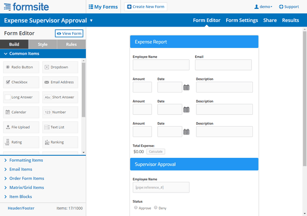 Form Site Builder Plus
