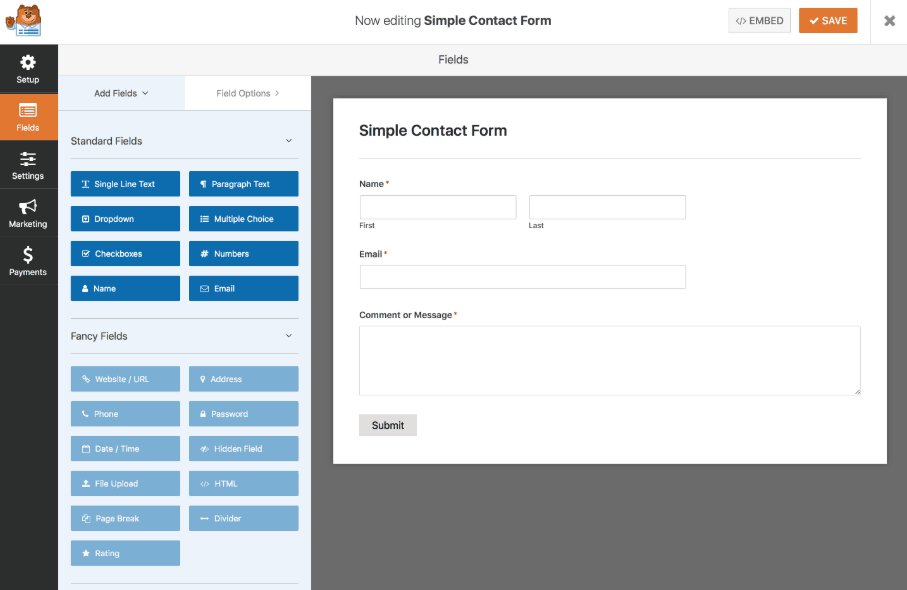 WP Forms - Drag & Drop Form Builder for WordPress