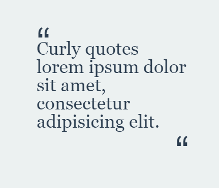 Curly Quotes CSS