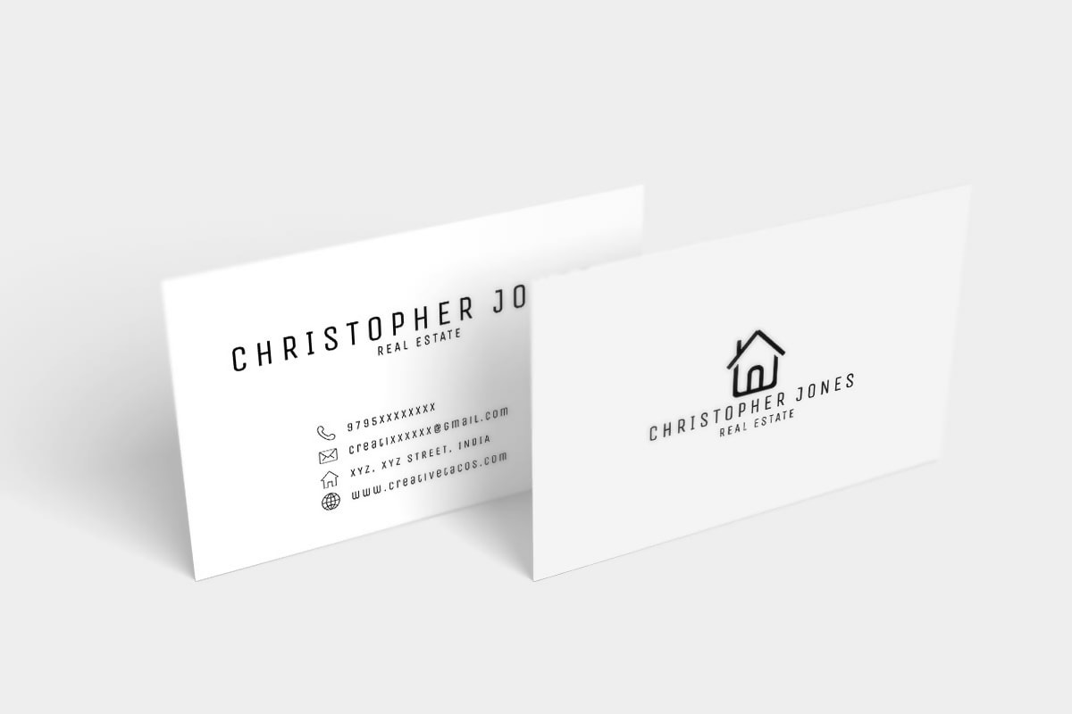Real Estate Business Card Minimal Template PSD