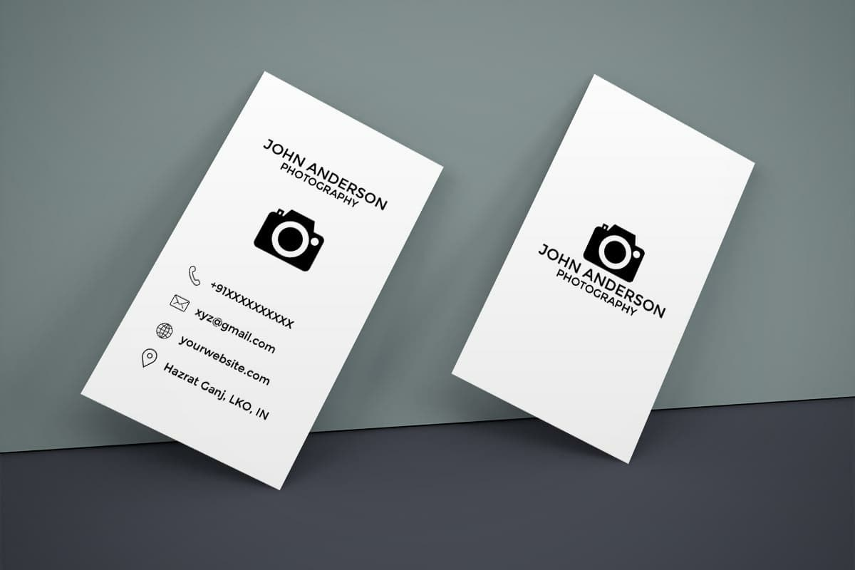 Free Photography Business Card Mockup