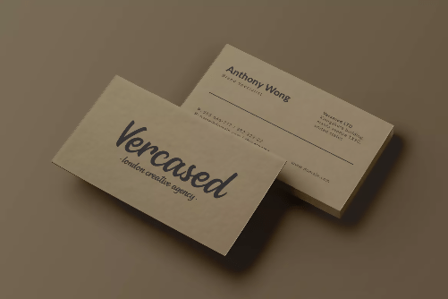 Vercased Creative Agency Business Card Template