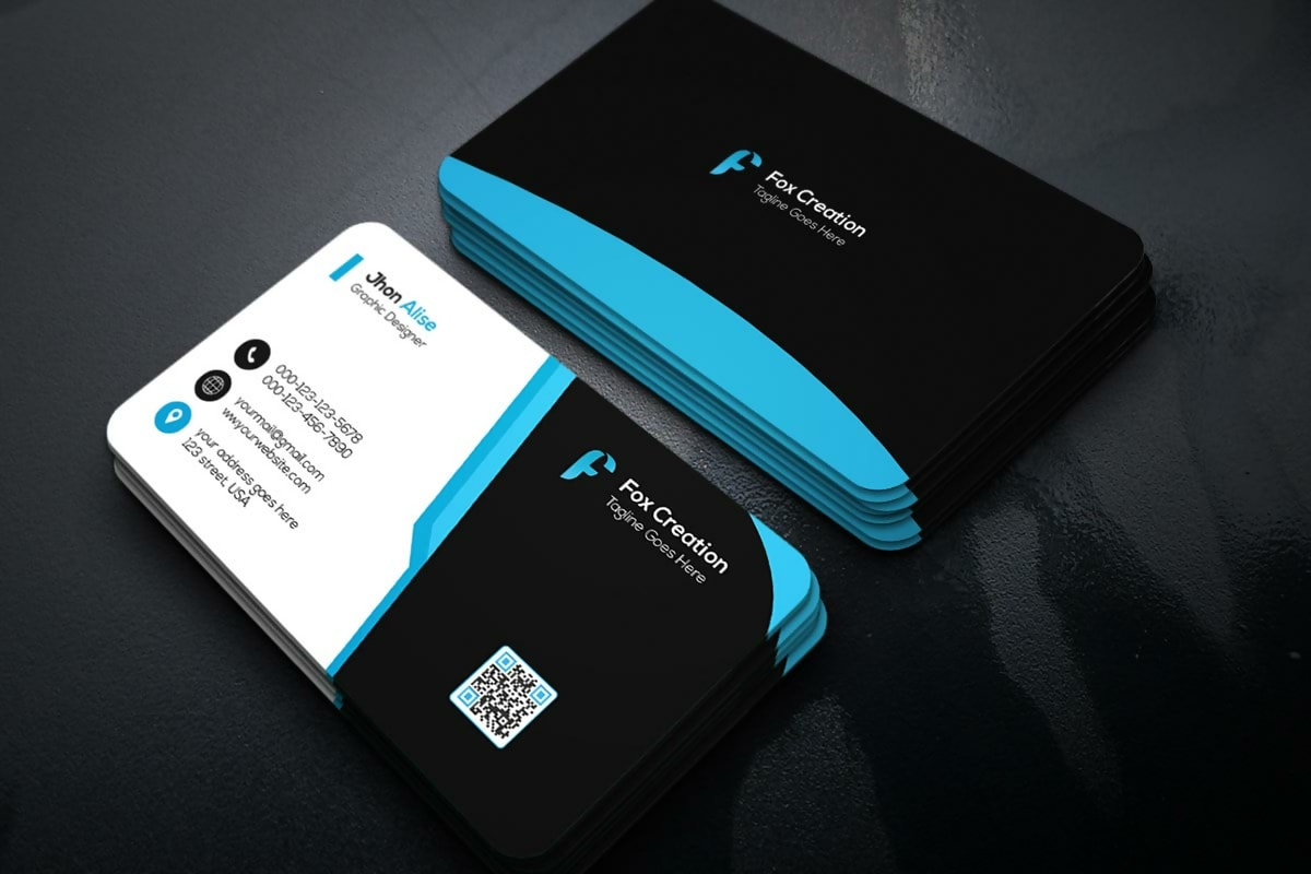 Free Rounded Edges Creative Business Card PSD