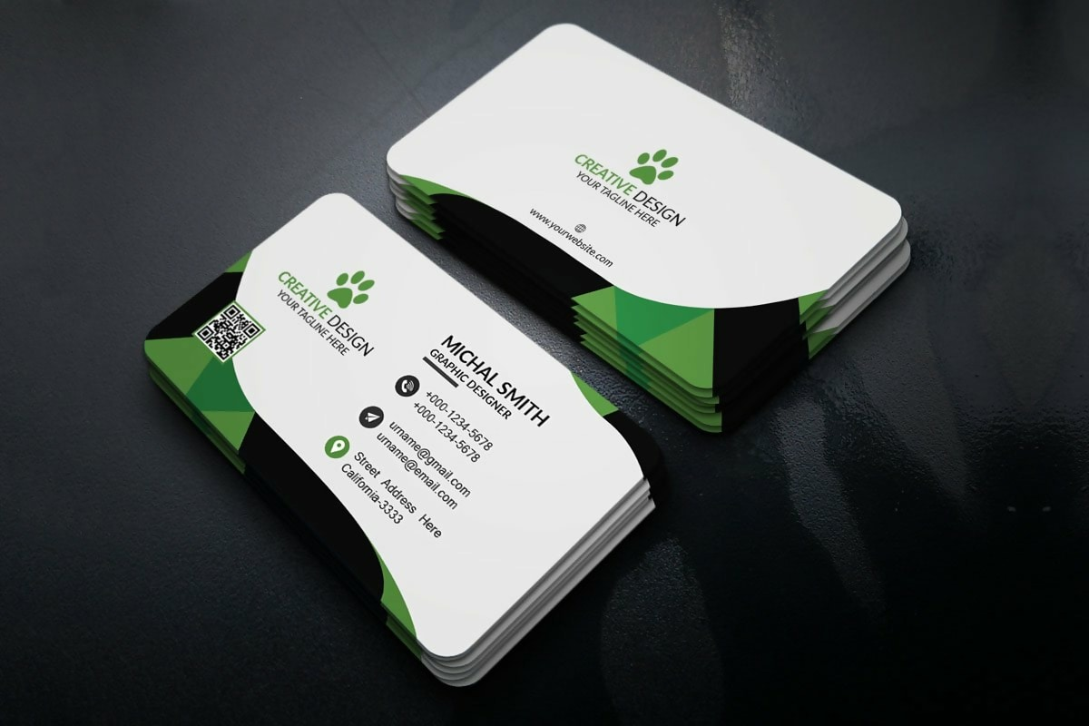 Free Corporate Business Card Template 2